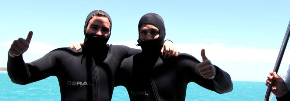 Shark Cage Diving with my brother