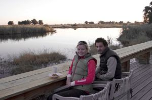 Outdoor Deck at King's Lodge, Botswana