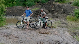 Biking while on safari at Singita's Lebombo Lodge
