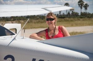 Safari flight at Xigera Camp, Botswana