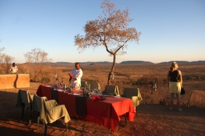 Dinner with a view, Morukuru