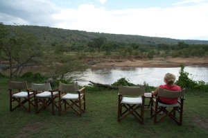 View over the river, Karen Blixen Camp