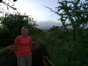 Views of Kili from the lodge iteself