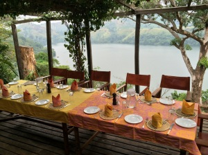 Dining with a view, Ndali Lodge