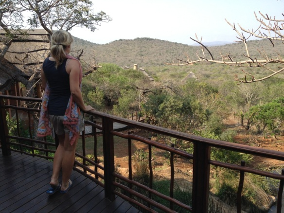 Looking out from the safari lodge deck